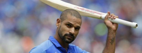 Shikhar Dhawan ruled out for 3 weeks