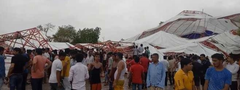 Squall hits Barmer pandal, 15 dead