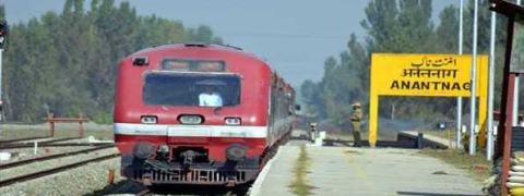 Train services suspended in Kashmir