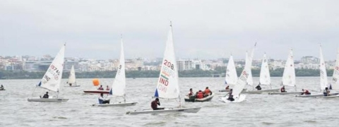 Strong winds tested skills of sailors on the first day of HSW
