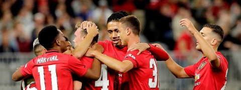 Manchester United thump rivals Leeds 4-0 during pre-season tour of Australia