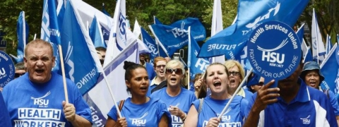 Aussie state hospital staff took to streets