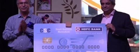 HDFC Bank and CSC launches Small Business MoneyBack Credit card