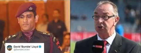 David Lloyd trolled for making fun of Dhoni's decision to train with Army