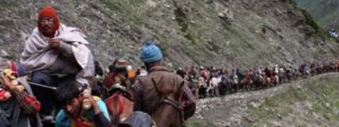 Amarnath pilgrim critically injured after slipping from hill