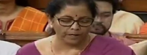 Nirmala presents maiden budget in Lok Sabha