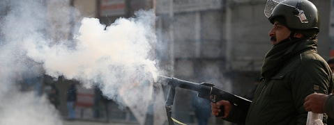 Police fire tear gas shells on protesting factory workers after death of colleague
