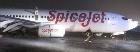 SpiceJet flight overshoots runway at Mumbai airport