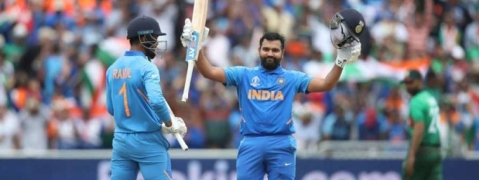 Rohit's ton powers India to 314/9 against Bangladesh