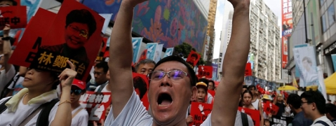 Hong Kong protesters march again against extradition bill