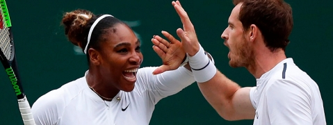 """Team SerAndy"" unstoppable in Wimbledon mixed doubles"