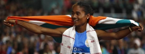 Hima Das bags fourth gold in 200m, Anas wins gold in 400m
