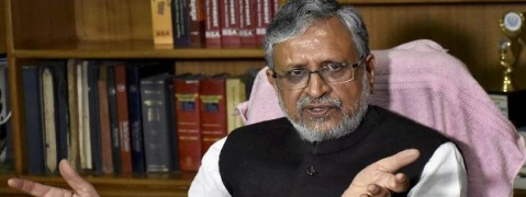 Sushil Modi defends 'movie-watching' during Bihar flood
