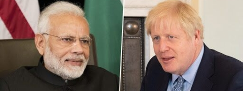 Modi holds tele talks with UK PM