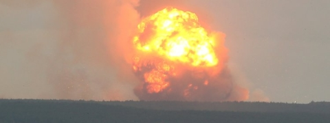 10 wounded at Ammo depot explosion in Russia
