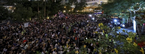 Thousands stood up for Hong Kong on Sunday