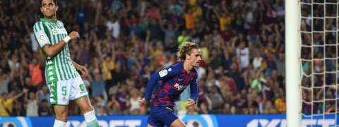 Griezmann at double as Barcelona hit five against Betis