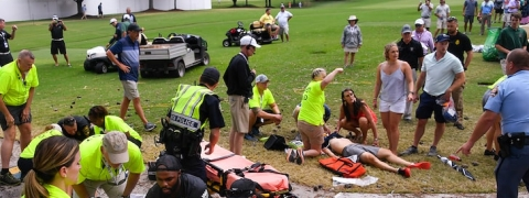 Six injured after lightning strike at PGA Tour Championship