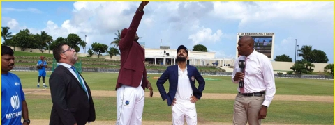 Ist Test: Windies win toss, opt to field vs India