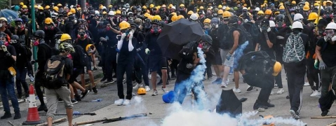 Hong Kong protest turns ugly; 29 held
