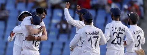 Ishant, Jadeja give edge to India; West Indies struggle with 189/8 on Day 2