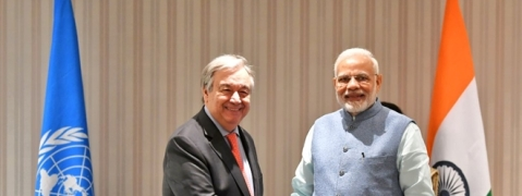 PM Modi meets UN Secretary General