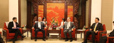 Jaishankar meets Chinese Foreign Minister, VP