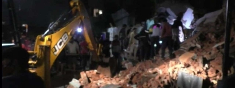 Three-storeyed building collapses in Gujarat, none hurt