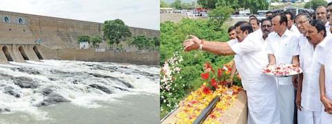 CM opens Stanley dam sluice gates in TN; 3,000 cusecs released for irrigation
