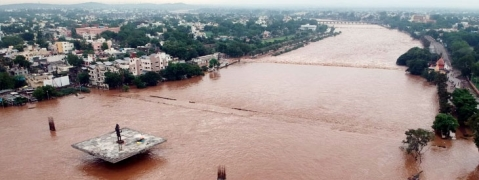 Panjara river in Dhule causes flood due to heavy rains