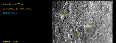 Chandrayaan beams two moon surface pictures