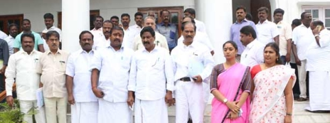 Oppn members stage walk out from Assembly