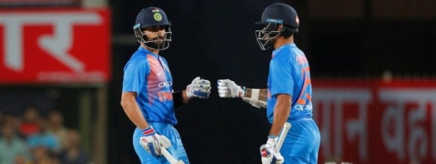 Kohli, Dhawan steer India to 7-wicket win