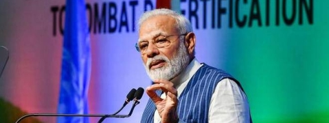 PM Modi urged UNCCD leadership to focus on water management, land restoration