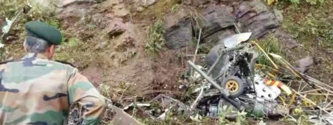 Indian army helicopter crashes in Bhutan; Pilot and co-pilot killed