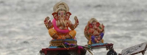 Over 2,500 Ganesha idols immersed in sea