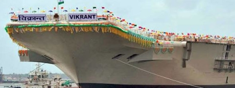 Hard discs stolen from  India's first indigenous warship 'Vikrant'
