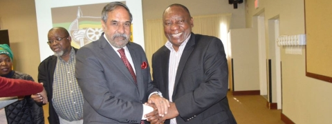 Anand Sharma meets South African President Cyril Ramaphosa