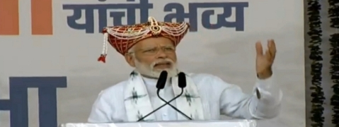 PM Modi sounds poll bugle in Maharashtra