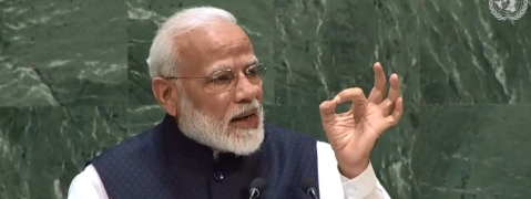 Modi invokes Buddha, says peace is India's message to the world