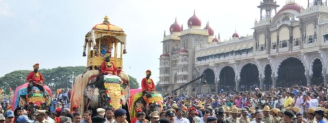 Wadiyars celebrate Royal Dasara in Mysuru Palace