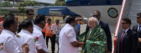 Modi arrives in Chennai