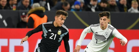 Argentina hold Germany 2-2 in international friendly