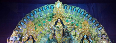 Temple City of Tripura all set on the eve of Durga Puja