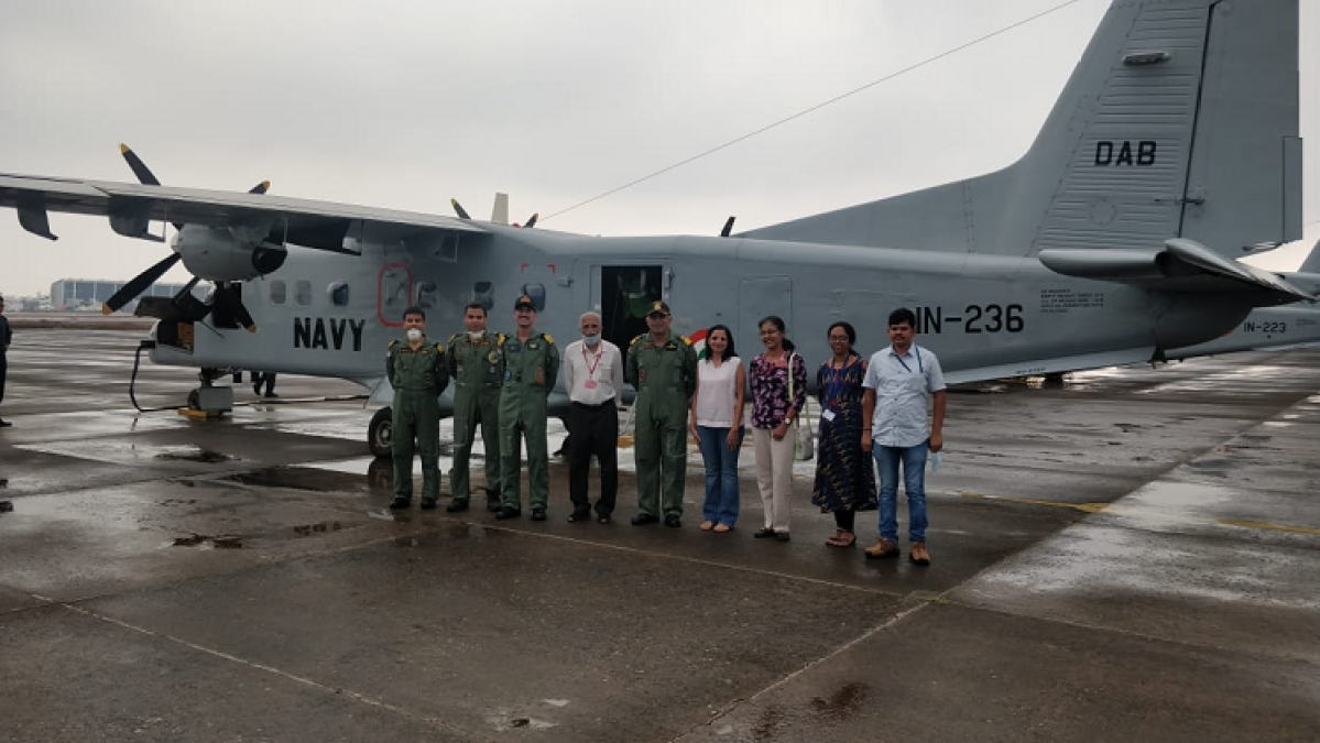 Navy aircraft transports samples for Covid 19 to Pune