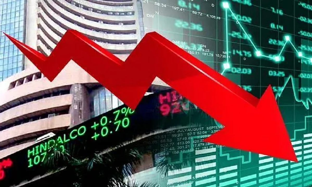 Sensex plunges by 3000 points