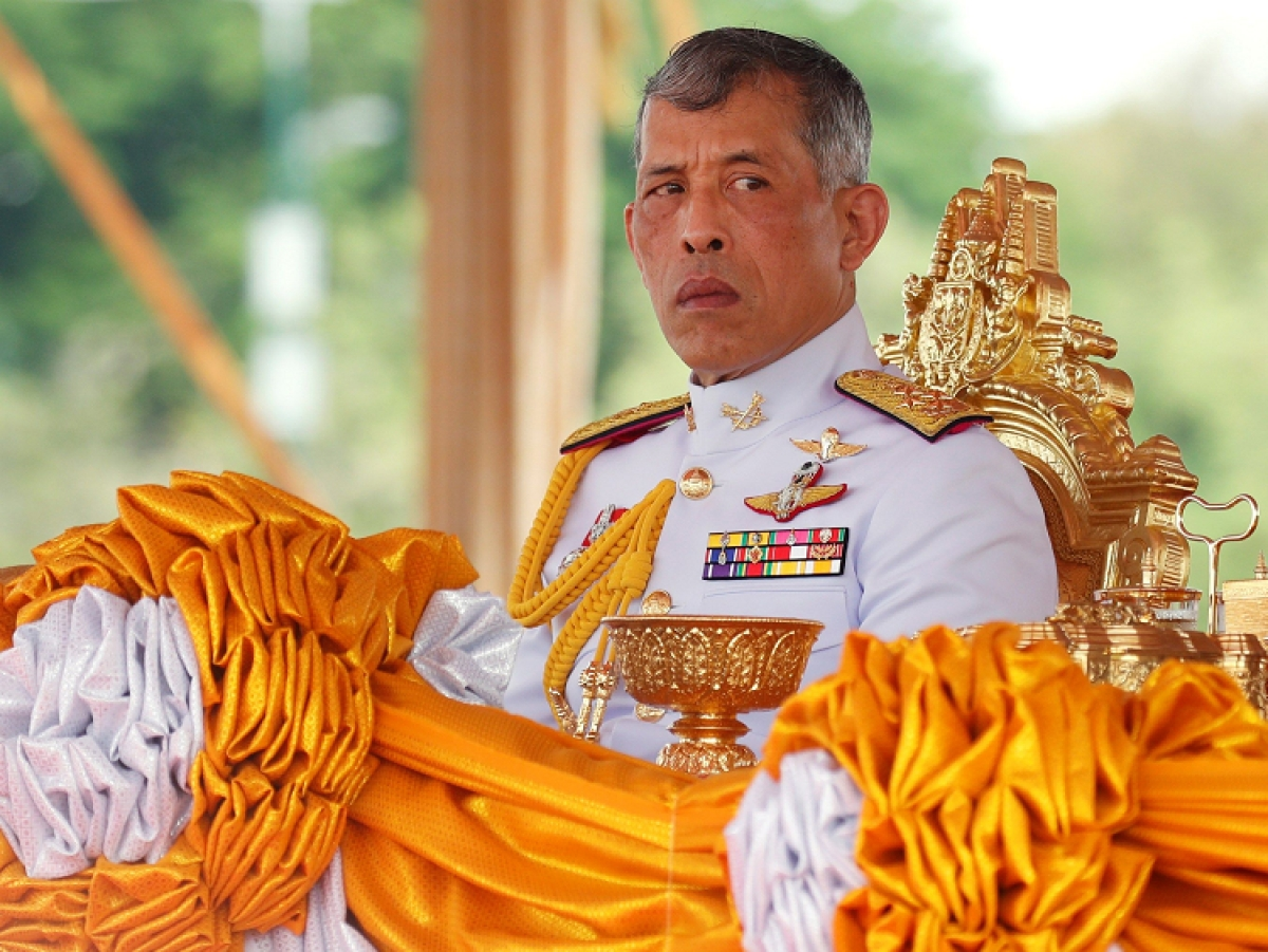 Thai King in isolation with 20 women