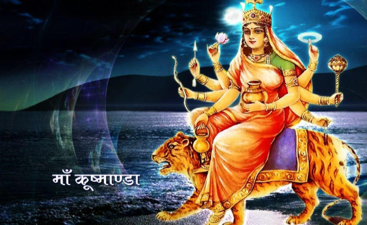 वासंतिक नवरात्र का चौथा दिन, मां कूष्माण्डा की पूजा, सभी विघ्न नाश कर सुख-समृद्धि प्रदान करता है माता का यह रूप