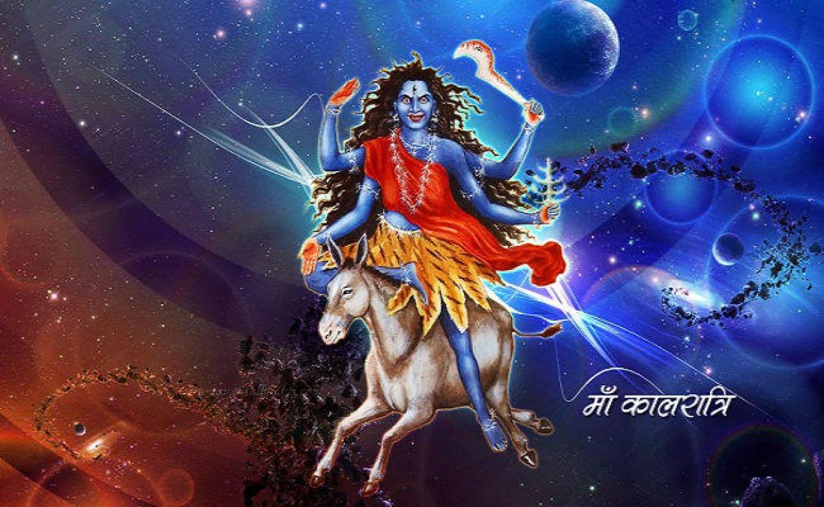 वासंतिक नवरात्र का सातवां दिन, मां कालरात्रि की पूजा, आकस्मिक रोग, बाधा, विघ्न विपत्ति का नाश करती हैं मां कालरात्रि
