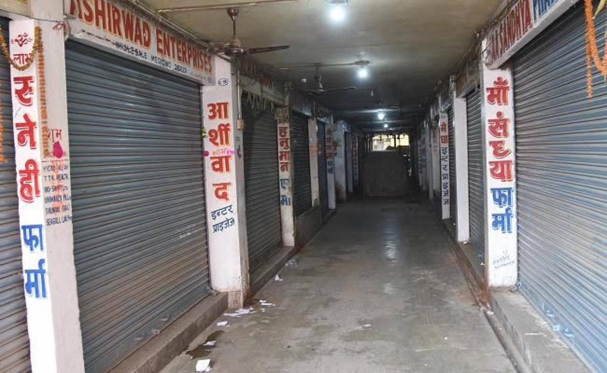 तीन दिवसीय हड़ताल पर गये दवा दुकानदार, बंद रहीं दुकानें